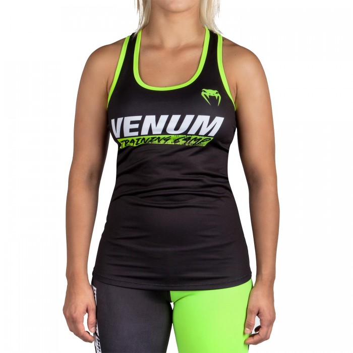 4fcde1e08cd Дамски потник - Venum Training Camp Tank Top - Black/Neo Yellow