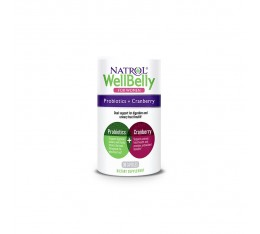Natrol Well Belly Probiotics + Cranberry For Women / 30 caps. Хранителни добавки, Здраве и тонус, Пробиотици