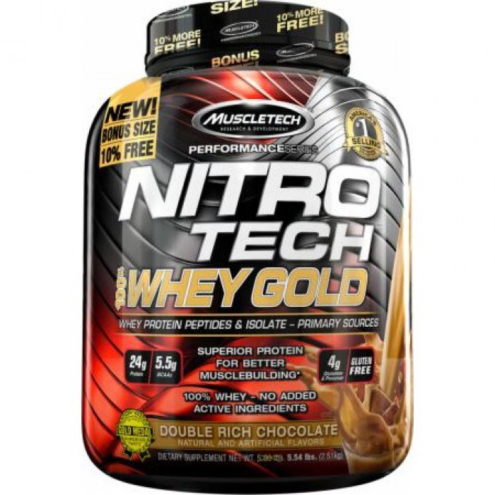 MuscleTech - Nitro Tech Whey Gold / 5.5lbs.​