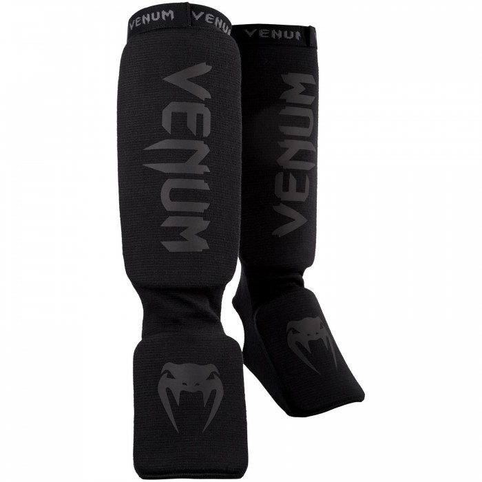 Протектори за Крака - VENUM KONTACT SHINGUARDS AND INSTEP - COTTON / BLACK / BLACK​