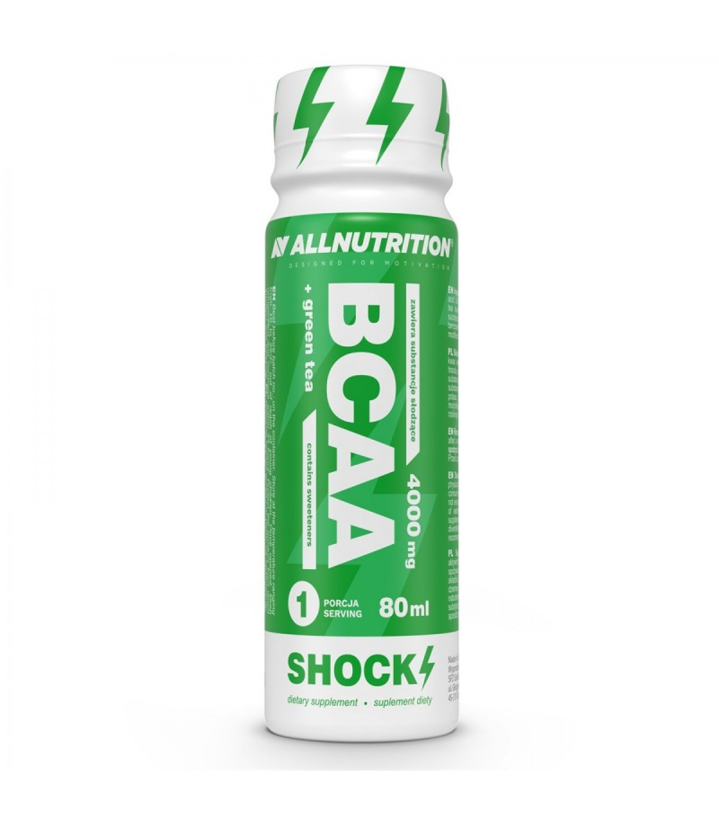 Allnutrition BCAA + Green Tea Shock 12 x 80ml