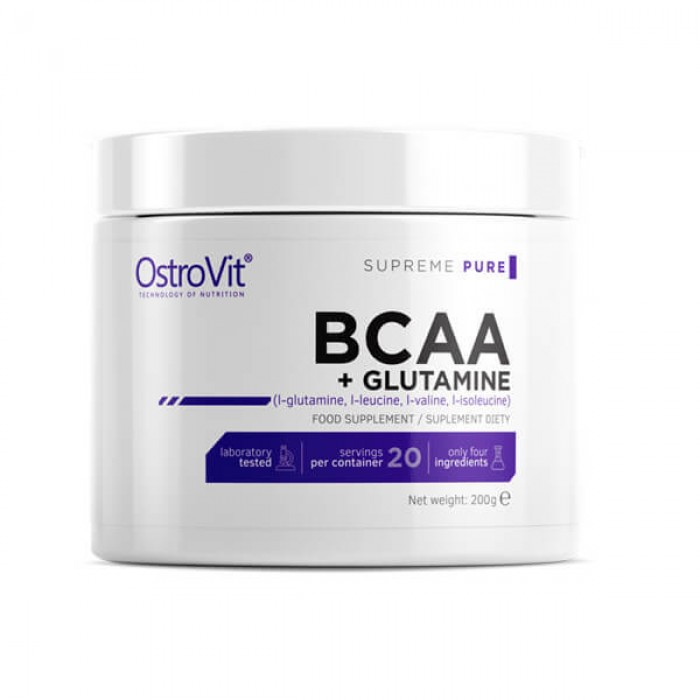 OstroVit - BCAA + GLUTAMINE Powder / 200 g