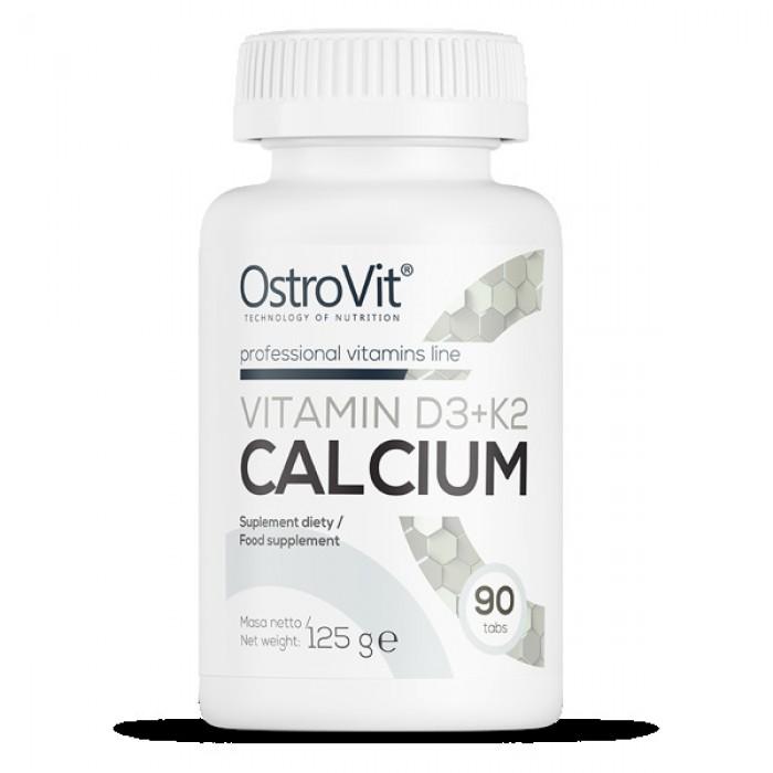 OstroVit - Vitamin D3 2000 + K2 100 mcg + Calcium / 90tabs.
