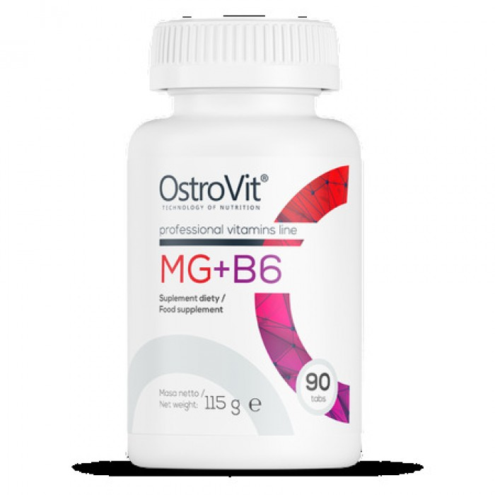 OstroVit - Mg + B6 / Magnesium Citrate + B6 / 90tabs.