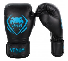 Боксови Ръкавици - Venum Contender Boxing Gloves - Black/Cyan​