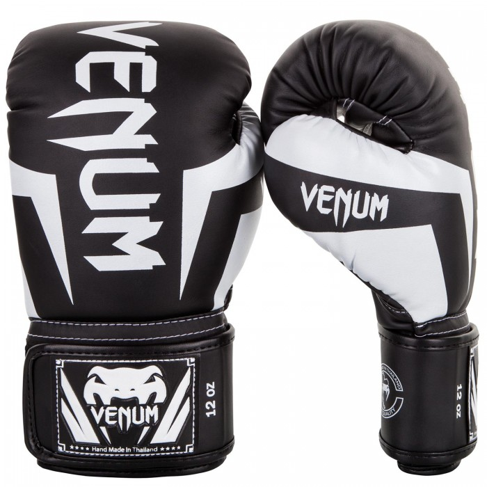 Боксови Ръкавици - Venum Elite Boxing Gloves - Black/White​