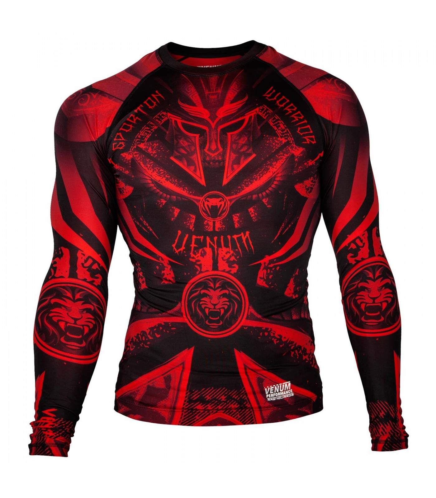 РАШГАРД - Venum Gladiator 3.0 Red Devil Rashguard - Black/Red - Long Sleeves