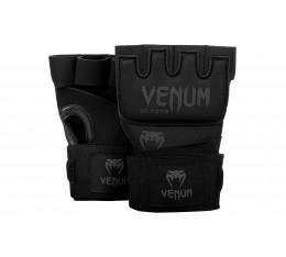 Вътрешни Ръкавици за Боксови Ръкавици -Venum Kontact Gel Glove Wraps-Black/Black Боксови ръкавици, Бинтове