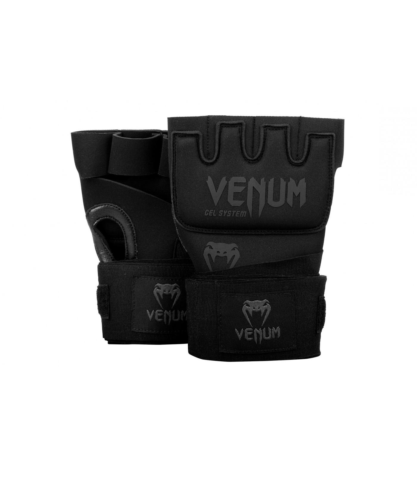 Вътрешни Ръкавици за Боксови Ръкавици -Venum Kontact Gel Glove Wraps-Black/Black