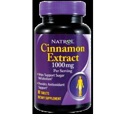 Natrol - Cinnamon Extract / 80 caps Хранителни добавки, Антиоксиданти