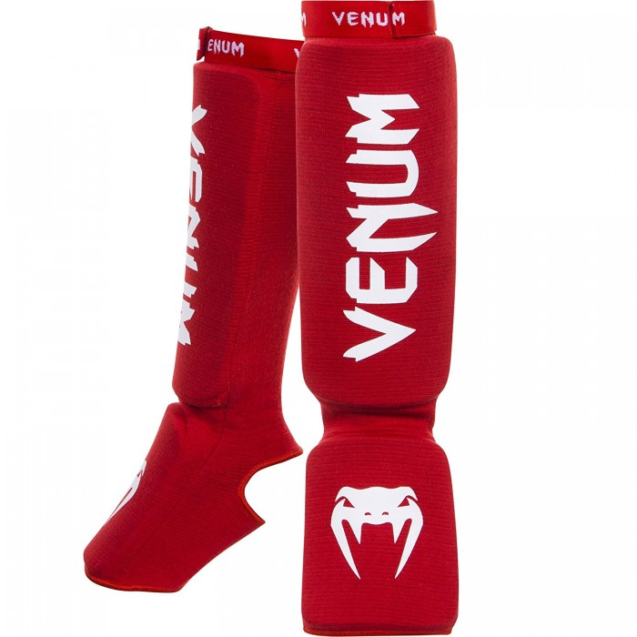 Протектори за крака - VENUM KONTACT SHINGUARDS AND INSTEP - COTTON / RED​