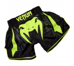 МУАЙ ТАЙ ШОРТИ - Venum Sharp 3.0 Muay Thai Shorts Black/Neo Yellow​ Къси гащета