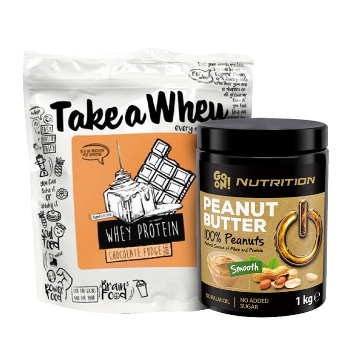 Стак - Take a cheat - протеин 900гр + фъстъчено масло 1000гр