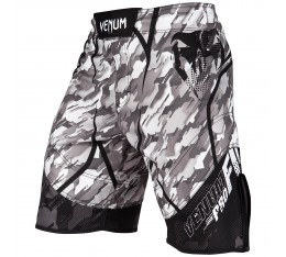 Шорти - Venum Tecmo Fightshorts - Black/Grey​ Къси гащета