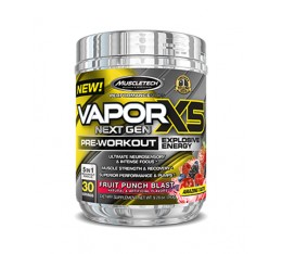 MUSCLETECH Vapor X5 Next Gen Pre-Workout / 30 Serv.​ Азотни/напомпващи
