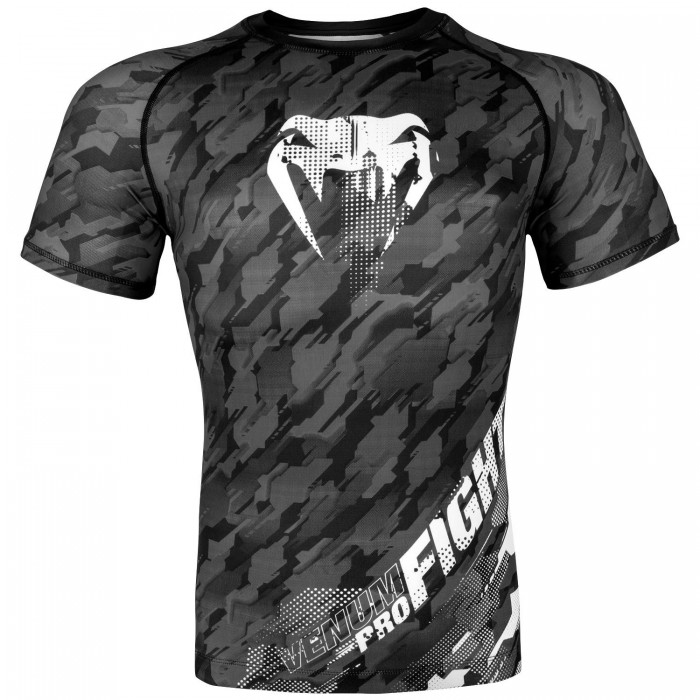 Рашгард - Venum Tecmo Rashguard - Short Sleeves - Dark Grey​