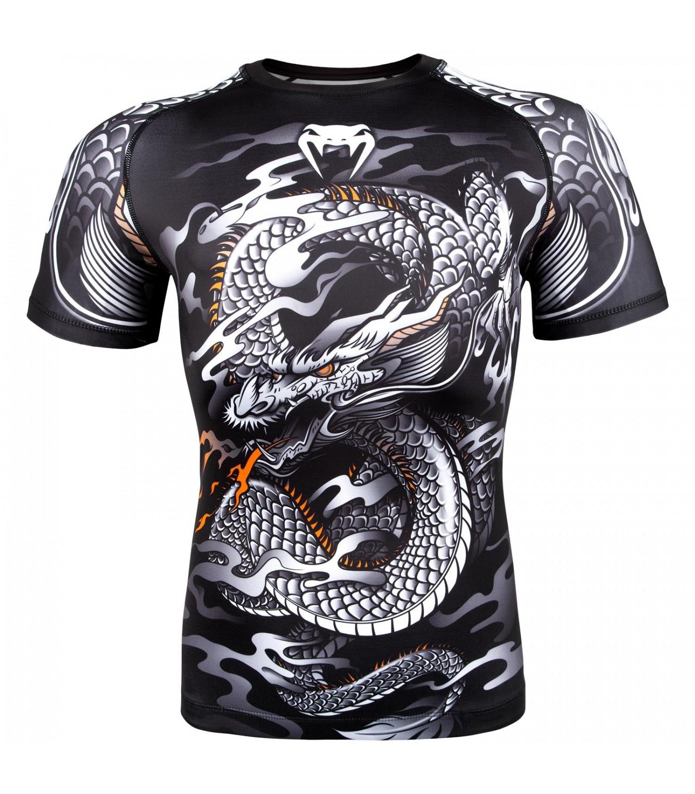 Рашгард - Venum Dragon's Flight Rashguard - Short Sleeves - Black/White