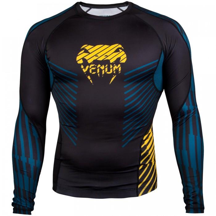 Рашгард - Venum Plasma Rashguard - Long Sleeves - Black/Yellow