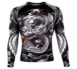 Рашгард - Venum Dragon's Flight Rashguard - Long Sleeves - Black/White​