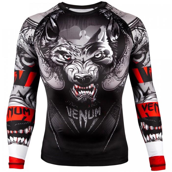 Рашгард - Venum Werewolf Rashguard - Long Sleeves - Black/Grey
