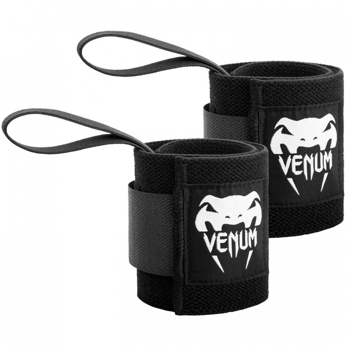 Накитници - VENUM HYPERLIFT LIFTING WRIST BANDS (PAIR) - BLACK​