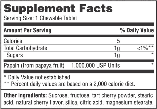 Резултат с изображение за haya labs papaya enzyme chewable supplements
