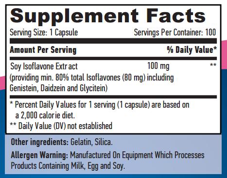 Резултат с изображение за HAYA LABS Soy Isoflavones 80% supplement