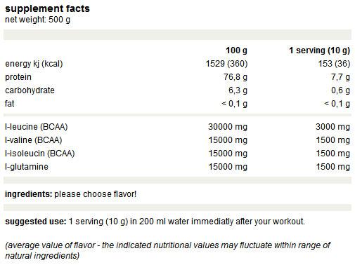 Weider - Premium BCAA Powder / 500 gr