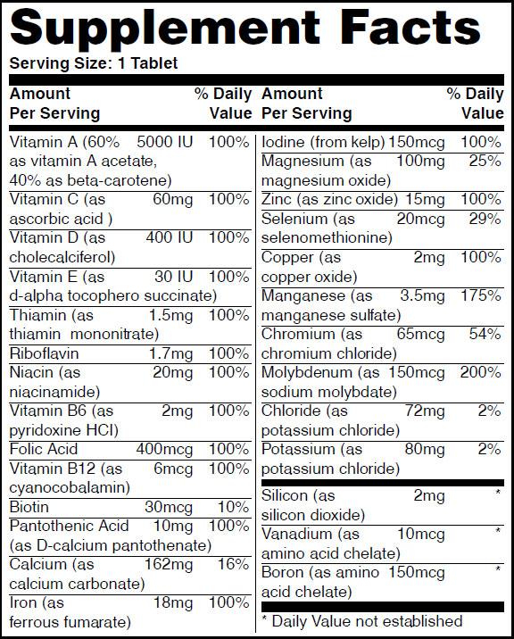 Резултат с изображение за HAYA LABS Basic Adult Multivitamin 100 Tablets.