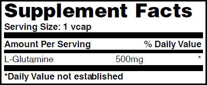 Резултат с изображение за HAYA LABS L-Glutamine 500mg