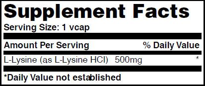 Резултат с изображение за HAYA LABS L-Lysine 500 mg supplement