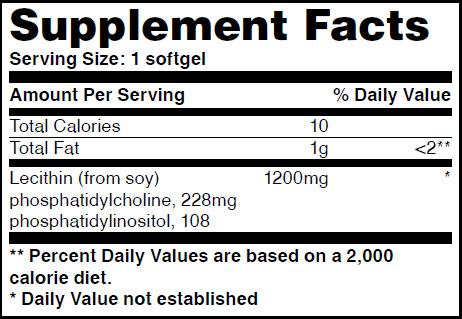 Резултат с изображение за HAYA LABS Lecithin 1,200mg supplement