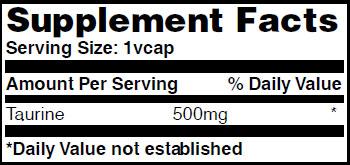 Резултат с изображение за HAYA LABS Taurine 500mg supplement