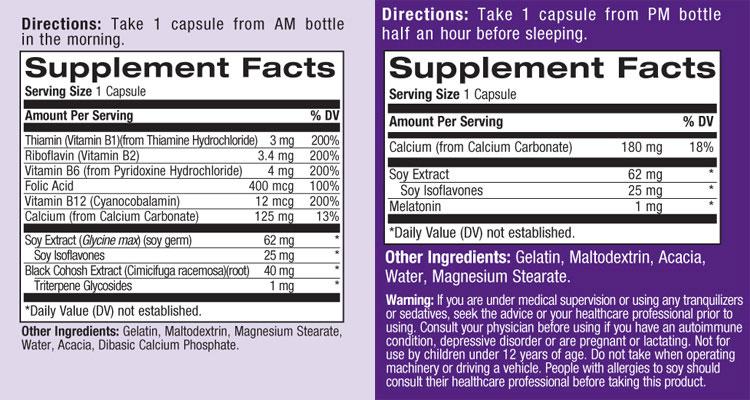 Natrol complete balance menopause am pm form 60 caps - Uur pm balances ...